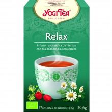 Yogi Tea| Relax| Nutrition & Santé | 17 bolsas| Camomila, Tila, Hinojo, Cardamomo, Escaramujo - Relajante