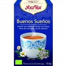 Yogi Tea| Buenos sueños| Nutrition & Santé | 17 bolsas| Camomila, Hinojo, Lavanda, Nuez Moscada, Valeriana - Relajante