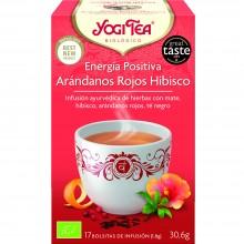 Yogi Tea| Energía Positiva| Nutrition & Santé | 17 bolsas| Té Negro, Mate, Guaraná, Arándanos, Hibisco - Estimulante