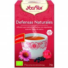 Yogi Tea| Defensas Naturales| Nutrition & Santé | 17 bolsas | Equinácea, Acerola, Bayas de Saúco - Defensas Naturales