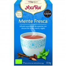 Yogi Tea| Menta Fresca | Nutrition & Santé | 17 bolsas | Cáscara de Cacao, Menta, Regaliz - Menta Fresca