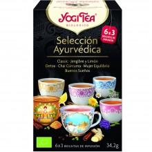 Yogi Tea Seleccion | Nutrition & Santé | 17 bolsas | Classic · Jengibre y Limón · Detox · Cúrcuma · Mujer · Buenos Sueños