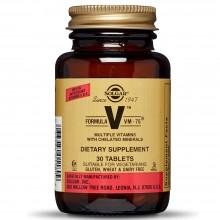 Fórmula VM-75 - Multivitamínico y Mineral | Solgar | 30 Comp de 75 mg | Sistema Inmunitario - Antioxidante
