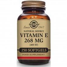 Vitamina E | Solgar | 250 Cáps de 268 mgr | Antioxidante - Antiinflamatorio