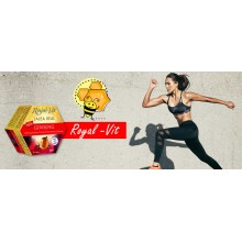 Royal-Vit Ginseng| Jalea Real | Nutrition & Santé | 20 dosis | 1000 mg con Ginseng, Eleuterococo y Taurina - Estimulante natural