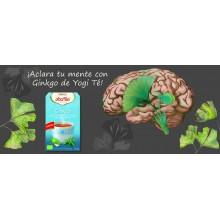 Yogi Tea| Ginkgo| Nutrition & Santé | 17 bolsas| Ginkgo, Menta, Jengibre, Albahaca, Ginseng - Estimulante