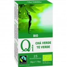 Qi - Té verde Chino Bio | Nutrition & Santé | 25 bolsitas | Té verde 100% | Activador & Diurético