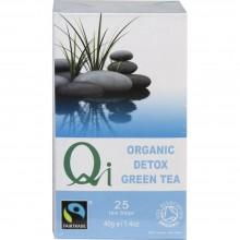 Qi - Té verde Chino DETOX| Nutrition & Santé | 25 bolsitas| Té Verde, Diente de León, Cardo, Regaliz | Detox