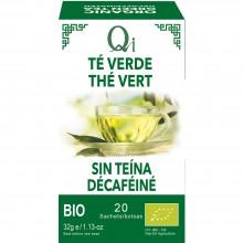 Qi - Té verde Sin Teína BIO| Nutrition & Santé | 20 bolsitas | Té verde descafeinado 100% | Diurético