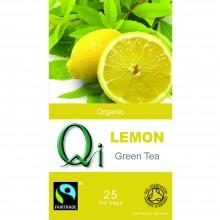 Qi - Té verde Chino con Limón BIO | Nutrition & Santé | 25 bolsitas| Té verde , limón, hierba luisa | Activador & Diurético