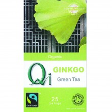 Qi - Té verde Chino Ginkgo BIO | Nutrition & Santé | 25 bolsitas| Té Verde, Ginkgo, Regaliz, Menta| Revitalizante & Relajante