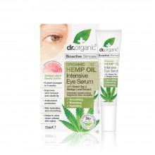 Suero Intensivo para Contorno de Ojos | dr. Organic | 15 ml | Con Aceite de Cáñamo Orgánico - 100% Bio