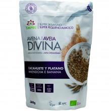 Avena Divina - Cacahuete Plátano BIO| Nutrition & Santé | 360g | Avena, Trigo Sarraceno, Plátano, Cacahuete | Superalimento