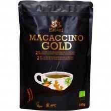 Macaccino Gold Bio | Nutrition & Santé | 250g| Cúrcuma, Azucar de Coco, Maca, Harina de Amaranto | Superalimento