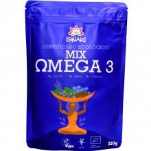 MIX Omega 3 Bio | Nutrition & Santé | 250g | Semillas de Lino y Chia Molidas | Superalimento Memoria y Salud