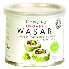 ClearSpring - Wasabi BIO en latita | Nutrition & Santé | 25g | Rábano picante y Wasabi | Best Of Japan