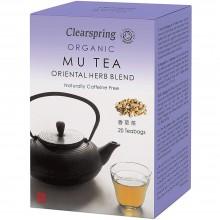 ClearSpring - Té Mu | Nutrition & Santé | 20 bolsitas | Mandarina, Regaliz, Canela, Jengibre, Ginseng, Melocotón | Best Of Japan