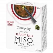 ClearSpring - Sopa de Miso Picante con Algas| Nutrition & Santé | 4 servicios | Miso, Cebolleta, Alga Wakame | Best Of Japan