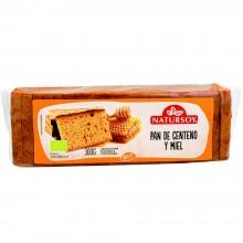 Natursoy - Pan de Centeno y Miel | Nutrition & Santé | 300g | Harina y granos integrales de Centeno y miel| Panadería