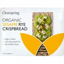 ClearSpring - Knackebrod con Sésamo | Nutrition & Santé | 200g | Harina Centeno, Harina Integral de Centeno y Sésamo | Panadería
