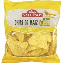 Natursoy - Chips de Maíz Queso    Nutrition & Santé   75g   Maíz, Queso y Aceite de Girasol   Snacks