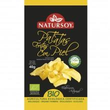 Natursoy - Patatas Fritas con Piel   Nutrition & Santé   40g   Patatas y aceite de Girasol   Snacks