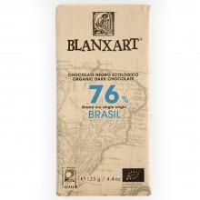 Blanxart - Chocolate Negro Brasil 76%   Nutrition & Santé   125g   Azúcar, manteca de cacao, Leche, Cacao   Chocolates