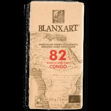Blanxart - Chocolate Negro Congo 82% | Nutrition & Santé | 125g | Azúcar, manteca de cacao, Cacao, Vainilla | Chocolates