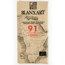 Blanxart - Chocolate Negro Congo 91%   Nutrition & Santé   100g   Azúcar, manteca de cacao, Cacao, Vainilla   Chocolates