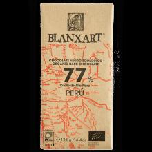 Blanxart - Chocolatina Perú 77%   Nutrition & Santé   48g   Azúcar, manteca de cacao, Cacao, Vainilla   Chocolates