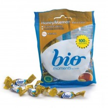 Bio Moments - Caramelo 2 Lazos Miel y Limón   Nutrition & Santé   60g   Azúcar, Miel, Limón   Dulces