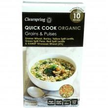 ClearSpring - Quick Cook Cereales y Legumbres | Nutrition & Santé | 250g | Trigo, Cebada, Legumbres | Cereales y Legumbres