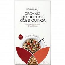 ClearSpring - Quick Cook Arroz Integral y Quinoa Roja | Nutrition & Santé | 250g | Arroz y Quinoa | Cereales y Legumbres