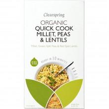 ClearSpring - Quick Cook Mijo, Guisantes, Lentejas | Nutrition & Santé | 250g | Mijo, Guisantes, Lentejas | Cereales y Legumbres