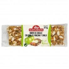 Natursoy - Barrita de Cereales con Semillas, Manzana y Canela | Nutrition & Santé | 40g | Arroz, Cereales, Frutas | Snacks