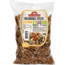 Natursoy - Macarrones de Espelta   Nutrition & Santé   500g   Espelta Integral   Pasta