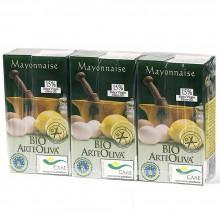 ArteOliva - Mayonesa Arte Oliva | Nutrition & Santé | 3x125ml| Aceite de girasol, Huevo, Mostaza, Trigo | Salsas