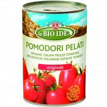 Bio Idea - Tomates Enteros Pelados | Nutrition & Santé | 400g| Tomates y Zumo de Tomate | Salsas