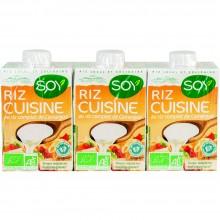Bio Soy - Crema de Arroz   Nutrition & Santé   3x200ml   Arroz, Aceite de Girasol, Agua   Salsas de Cocinar
