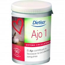 Dietisa - Ajo 1 | Nutrition & Santé | 90 perlas | Ajo | Sistema Circulatorio