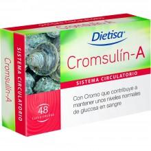 Dietisa - Cromsulín-A | Nutrition & Santé | 48 Comprimidos | Cassostrea Gigas | Sistema Circulatorio