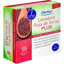 Dietisa - Levadura Roja de Arroz Plus | Nutrition & Santé | 30 cápsulas | Levadura roja arroz | Sistema Circulatorio