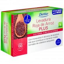 Dietisa - Levadura Roja de Arroz Plus | Nutrition & Santé | 60 cápsulas | Levadura roja arroz | Sistema Circulatorio