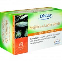 Dietisa - Mejillón de labio verde | Nutrition & Santé | 84 cápsulas | Extracto de mejillón de labio verde | Sistema Locomotor