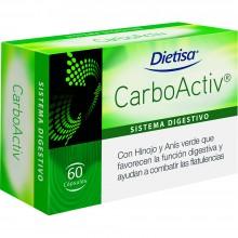 Dietisa - CarboActiv   Nutrition & Santé   60 cápsulas   Carbón Vegetal activado   Sistema Digestivo