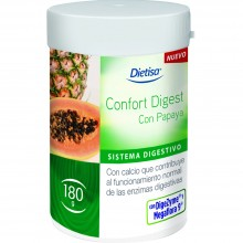 Dietisa - Confort Digest Papaya | Nutrition & Santé | 180g | Carbón Vegetal activado | Sistema Digestivo