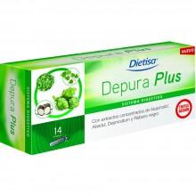 Dietisa - Depura Plus   Nutrition & Santé   14 viales  Alcachofa, Abedul, Desmodium y Rábano negro   Sistema Digestivo