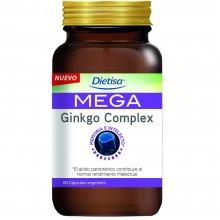 Dietisa - Mega Ginkgo Complex | Nutrition & Santé | 60 cápsulas | Ginkgo, Fosfatidilserina, Glutamina, Colina | Sistema Nervioso