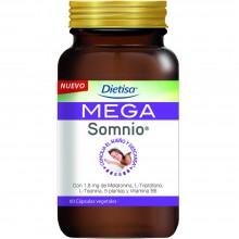 Dietisa - Mega Somnio | Nutrition & Santé | 60 cápsulas | Pasiflora y Lúpulo | Sistema Nervioso