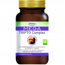 Dietisa - Mega Tripto Complex | Nutrition & Santé | 60 cápsulas | 5-Hidroxitriptófano | Sistema Nervioso